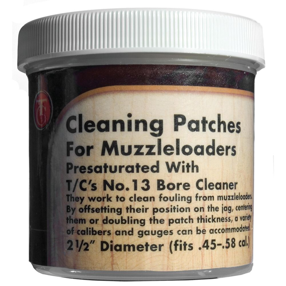 "Pre-Saturated Cleaning Patches, Number 13 Bore Cleaner, 2 1/2"" (Jar of 100)"